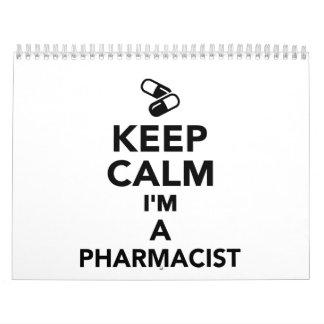 Guarde la calma que soy farmacéutico calendarios