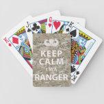 Guarde la calma que soy guardabosques baraja cartas de poker