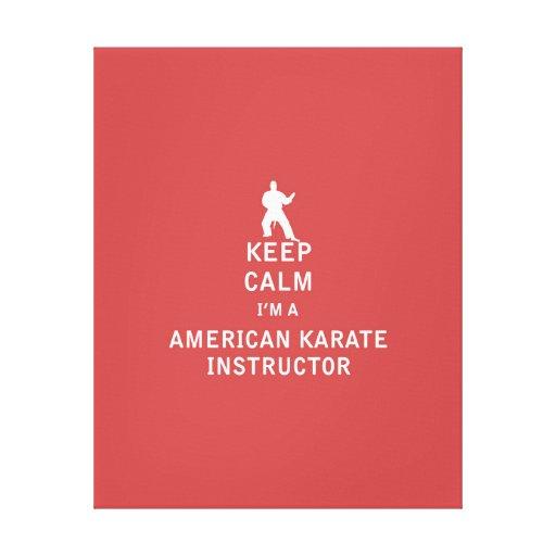 Guarde la calma que soy instructor americano del impresiones en lienzo estiradas