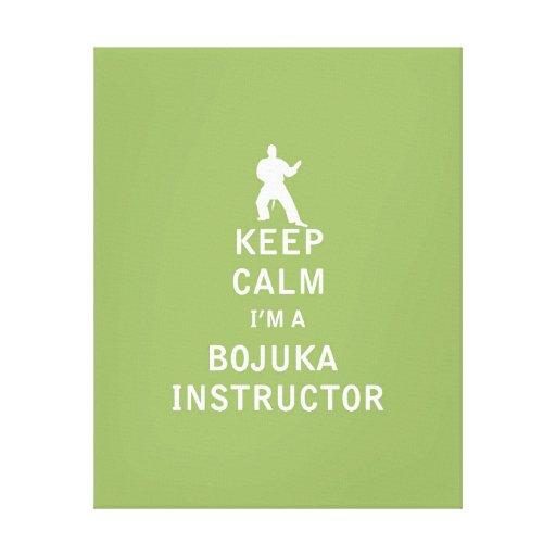 Guarde la calma que soy instructor de Bojuka Impresiones En Lienzo Estiradas