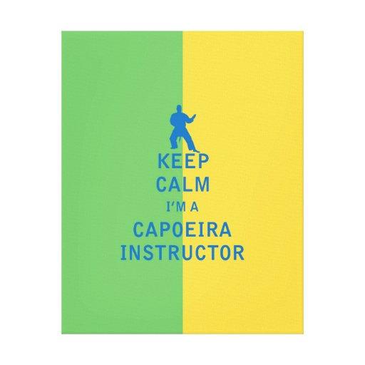 Guarde la calma que soy instructor de Capoeira Lona Estirada Galerías