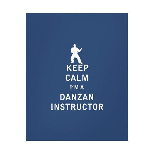 Guarde la calma que soy instructor de Danzan Impresiones En Lienzo Estiradas