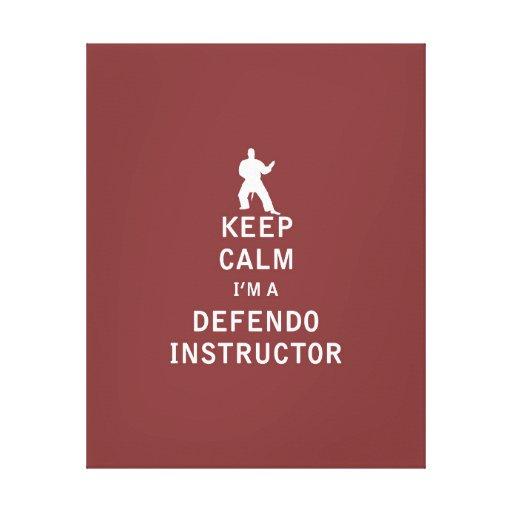 Guarde la calma que soy instructor de Defendo Impresión En Lienzo Estirada