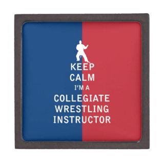 Guarde la calma que soy instructor de lucha cajas de regalo de calidad