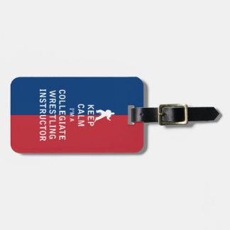 Guarde la calma que soy instructor de lucha etiquetas para maletas