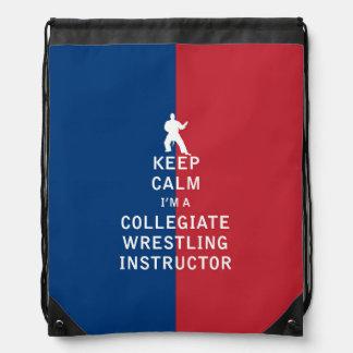 Guarde la calma que soy instructor de lucha mochilas