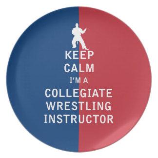 Guarde la calma que soy instructor de lucha platos