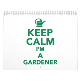 Guarde la calma que soy jardinero calendarios de pared
