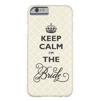 Guarde la calma que soy la novia Quatrefoil Funda Para iPhone 6 Barely There