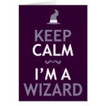 Guarde la calma que soy mago tarjeton