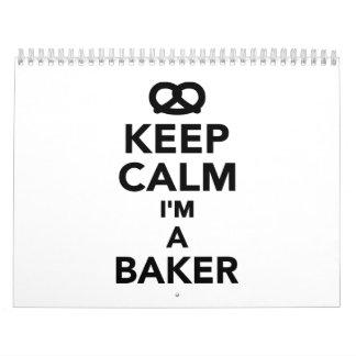 Guarde la calma que soy panadero calendarios de pared