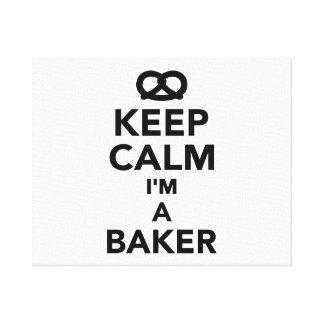 Guarde la calma que soy panadero lona envuelta para galerias