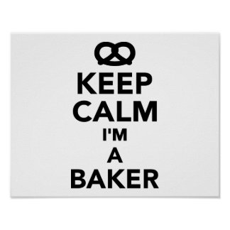 Guarde la calma que soy panadero impresiones