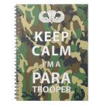 Guarde la calma que soy paracaidista libreta