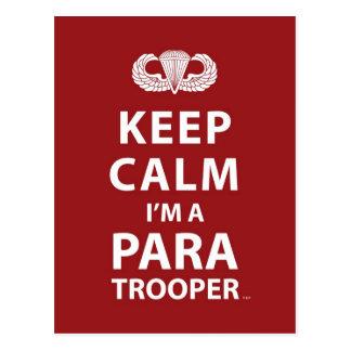 Guarde la calma que soy paracaidista postal