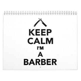 Guarde la calma que soy peluquero calendario