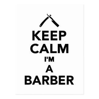 Guarde la calma que soy peluquero postales