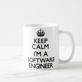 Guarde la calma que soy Software Engineer Taza De Café