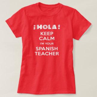 Guarde la calma que soy su profesor español playera