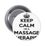 Guarde la calma que soy terapeuta del masaje pins