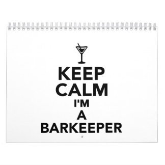 Guarde la calma que soy un Barkeeper Calendario De Pared