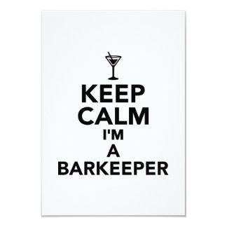 Guarde la calma que soy un Barkeeper Invitacion Personal