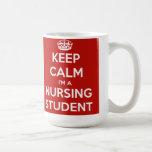 Guarde la calma que soy un estudiante del oficio d tazas