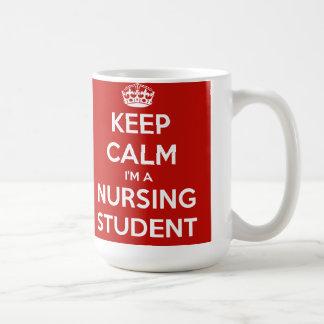 Guarde la calma que soy un estudiante del oficio taza de café