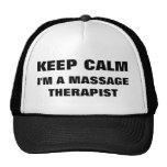 Guarde la calma que soy un gorra del terapeuta del