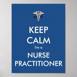 Guarde la calma que soy un médico de la enfermera póster