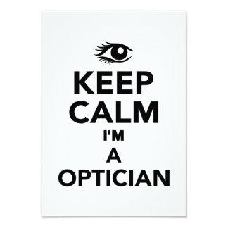 Guarde la calma que soy un óptico anuncio personalizado