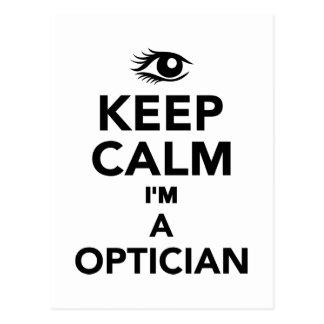 Guarde la calma que soy un óptico postales