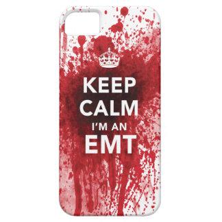 Guarde la calma que soy una caja salpicada sangre iPhone 5 carcasas