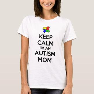 Guarde la calma que soy una mamá del autismo playera