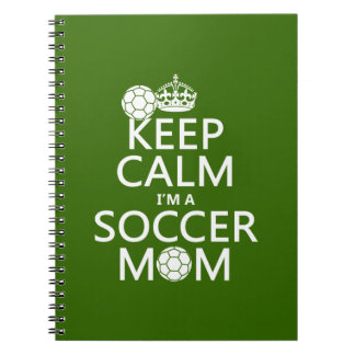 Guarde la calma que soy una mamá del fútbol (en cu libretas
