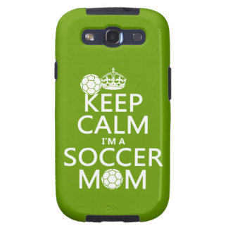 Guarde la calma que soy una mamá del fútbol (en cu galaxy s3 carcasa