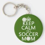 Guarde la calma que soy una mamá del fútbol (en cu llaveros