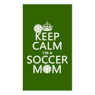 Guarde la calma que soy una mamá del fútbol (en cu tarjeta de visita