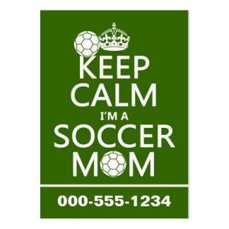 Guarde la calma que soy una mamá del fútbol (en cu plantilla de tarjeta de visita