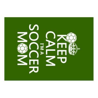 Guarde la calma que soy una mamá del fútbol (en cu tarjeta de negocio