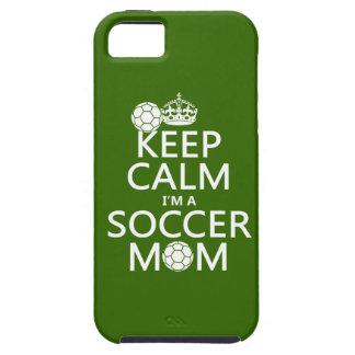 Guarde la calma que soy una mamá del fútbol (en iPhone 5 fundas