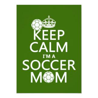 Guarde la calma que soy una mamá del fútbol (en anuncio personalizado