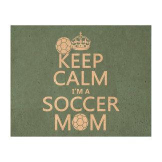 Guarde la calma que soy una mamá del fútbol (en impresión en corcho