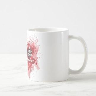 Guarde la calma que soy una taza de café del param