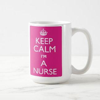 Guarde la calma que soy una taza de la enfermera