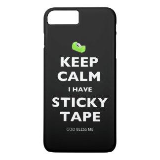 Guarde la calma que tengo cinta pegajosa funda iPhone 7 plus