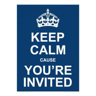 Guarde la calma que usted es fiesta invitado invit