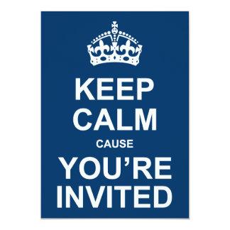 """Guarde la calma que usted es fiesta invitado invitación 5"""" x 7"""""""