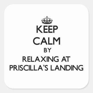 Guarde la calma relajándose en el aterrizaje Massa Pegatinas Cuadradases