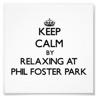 Guarde la calma relajándose en el parque adoptivo  impresion fotografica